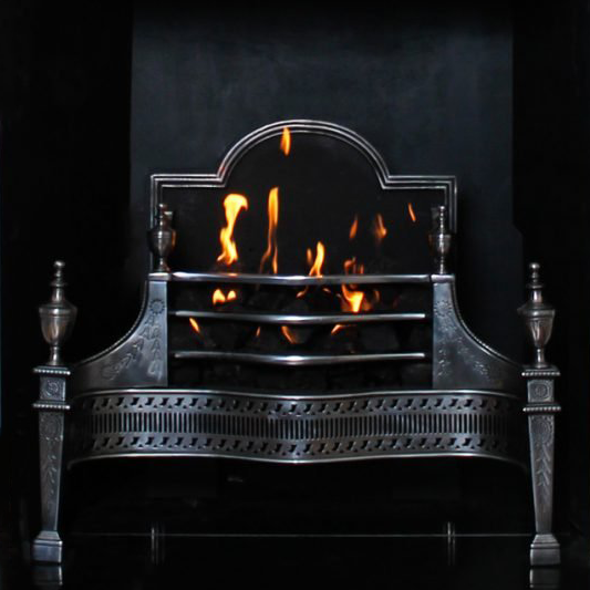 Abbey Fireplaces cast iron and steel fireplace interiors and baskets